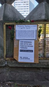 Der Stolperstein von Elli Smula in der Singerstraße in Berlin ist wegen einer Baustelle erst nächstes Jahr wieder zu sehen
